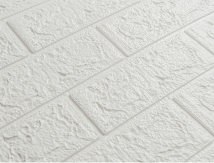 Самоклеющаяся декоративная 3D панель «Кирпич» белый №1 (5 мм) - изображение 2 - интернет-магазин tricolor.com.ua