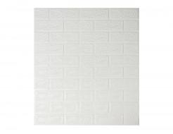 Самоклеющаяся декоративная 3D панель «Кирпич» белый №1 (5 мм) - интернет-магазин tricolor.com.ua