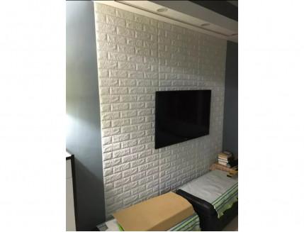 Самоклеющаяся декоративная 3D панель «Кирпич» белый №1 (5 мм) - изображение 6 - интернет-магазин tricolor.com.ua