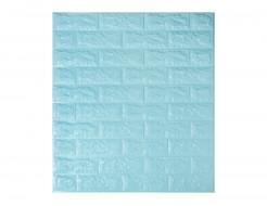 Самоклеющаяся декоративная 3D панель «Кирпич» бирюзовый №2 (7 мм) - интернет-магазин tricolor.com.ua