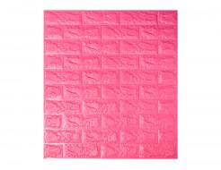 Самоклеющаяся декоративная 3D панель «Кирпич» темно-розовый №6 (7 мм) - интернет-магазин tricolor.com.ua