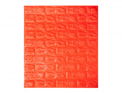 Самоклеющаяся декоративная 3D панель «Кирпич» оранжевый №7 (7 мм) - интернет-магазин tricolor.com.ua