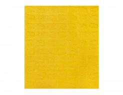 Самоклеющаяся декоративная 3D панель «Кирпич» желтый №10 (7 мм) - интернет-магазин tricolor.com.ua