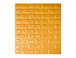 Самоклеющаяся декоративная 3D панель «Кирпич» золотой №11 (7 мм) - интернет-магазин tricolor.com.ua