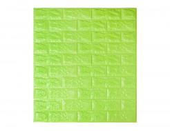Самоклеющаяся декоративная 3D панель «Кирпич» зеленый №13 (7 мм) - интернет-магазин tricolor.com.ua
