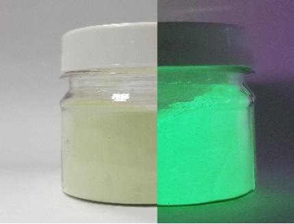 Люминесцентный пигмент Люминофор зеленый Tricolor DLO-7D/100-120 микрон