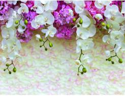 Фотообои Lux Design #1 Цветы бело-сиреневые - интернет-магазин tricolor.com.ua