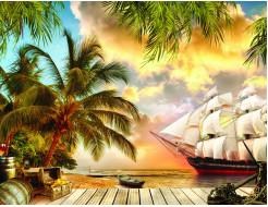 Фотообои Lux Design #5 Корабль - интернет-магазин tricolor.com.ua