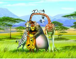 Детские фотообои Lux Design #15 Мадагаскар - интернет-магазин tricolor.com.ua