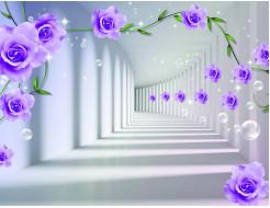 Фотообои Lux Design #21 Розы абстракция - интернет-магазин tricolor.com.ua