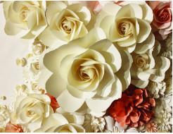Фотообои Lux Design #22 Белые розы - интернет-магазин tricolor.com.ua