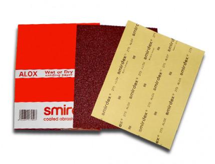 Бумага для мокрой и сухой шлифовки Smirdex 275 лист 230х280 мм зерно 600