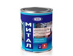 Краска-грунт алкидная Mixon Митал по металлу белая полуматовая