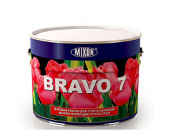 Краска для стен и потолка Mixon Bravo 7 белая матовая