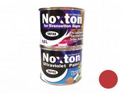 Флуоресцентная краска для систем безопасности NoxTon for Evacuation Signs темно-красная