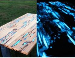 Краска светящаяся AcmeLight для дерева синяя - интернет-магазин tricolor.com.ua