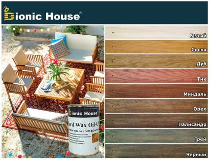Масло для дерева Bionic House Hard Wax Oil - UV с твердым воском и УФ-защитой Грей - изображение 2 - интернет-магазин tricolor.com.ua