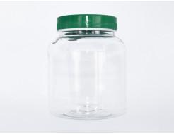 Баночка пластиковая прозрачная с цветной крышкой 500 мл