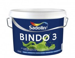 Краска для потолка и стен Sadolin Bindo 3 белая глубокоматовая