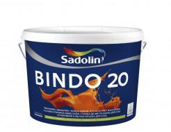 Краска для стен Sadolin Bindo 20 белая полуматовая моющаяся