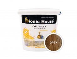 Масло-воск для дерева с пчелиным воском Bionic House в цвете (орех)