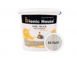 Масло-воск для дерева с пчелиным воском Bionic House в цвете (белый)