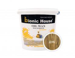 Масло-воск для дерева с пчелиным воском Bionic House в цвете (дуб)