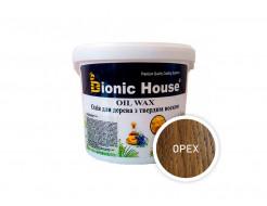 Масло-воск для дерева с карнаубским воском Bionic House в цвете (орех)