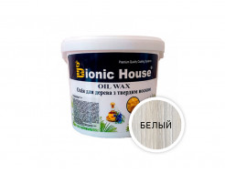 Масло-воск для дерева с карнаубским воском Bionic House в цвете (белый)