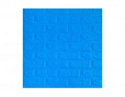 Самоклеющаяся декоративная 3D панель «Кирпич» синий №3 (7 мм)