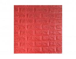 Самоклеющаяся декоративная 3D панель «Кирпич» красный №8 (7 мм)