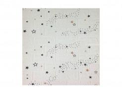 Самоклеющаяся декоративная 3D панель «Кирпич» звезды №21 (5 мм)