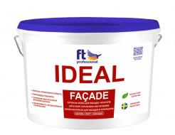 Краска латексная универсальная FT Pro Ideal Facade влагоустойчивая матовая база А