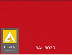 Краска порошковая полиэфирная Etika Tribo Транспортный красный RAL 3020 глянцевая