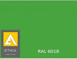 Краска порошковая полиэфирная Etika Tribo Желто-зеленая RAL 6018 матовая