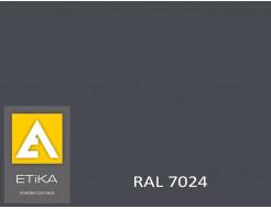 Краска порошковая полиэфирная Etika Tribo Графитово-серая RAL 7024 шагрень
