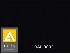 Краска порошковая полиэфирная Etika Tribo Черный янтарь RAL 9005 матовая