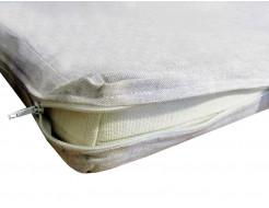 Матрас детский льняной LinTex 80х160/5 в кроватку чехол из льна Зима-лето