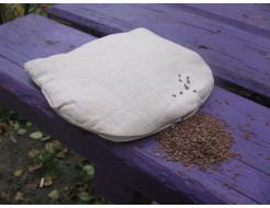 Подушка-грелка LinTex 20х20 с семенами льна