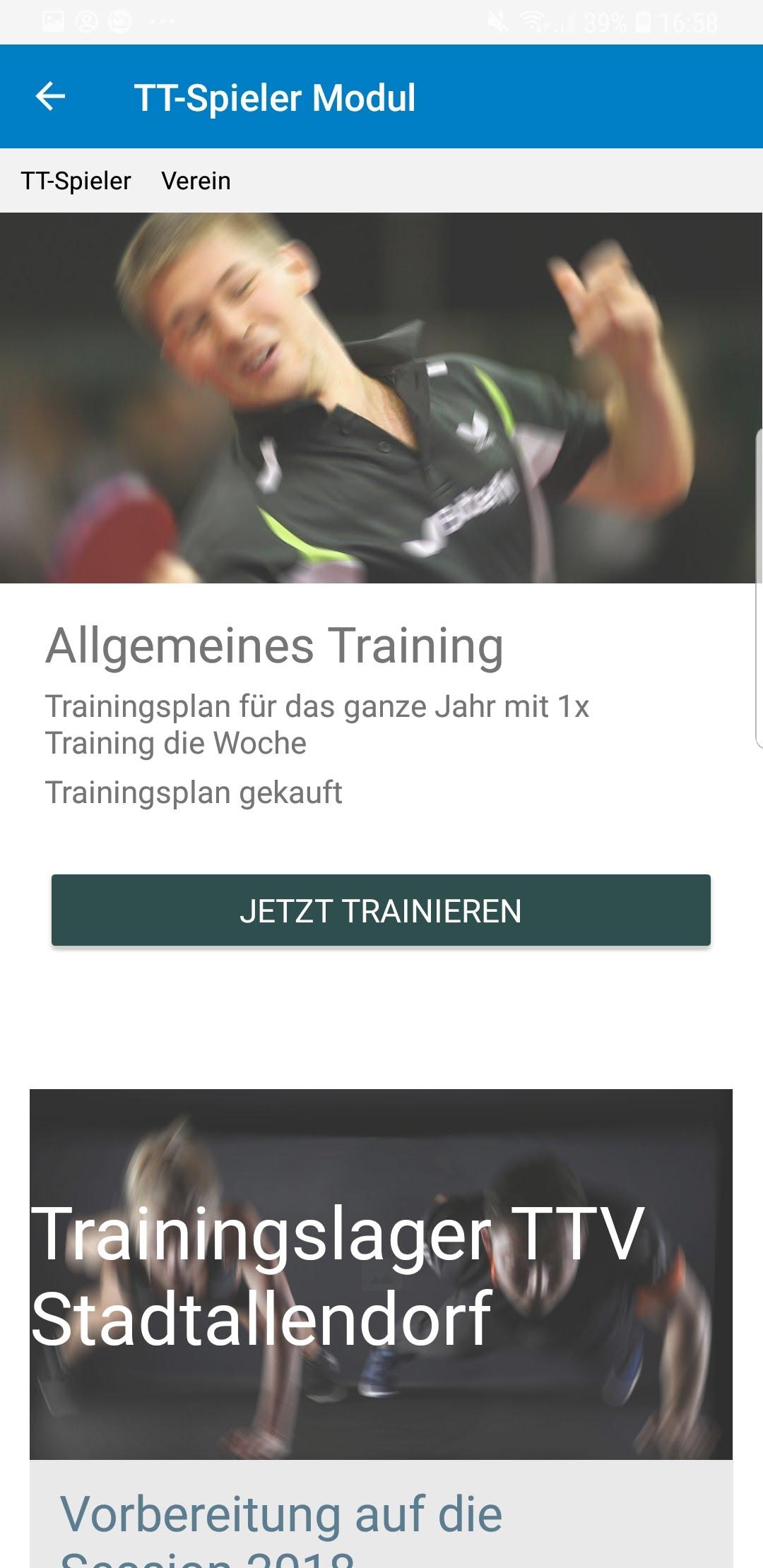 TT-Coach App Plandetails