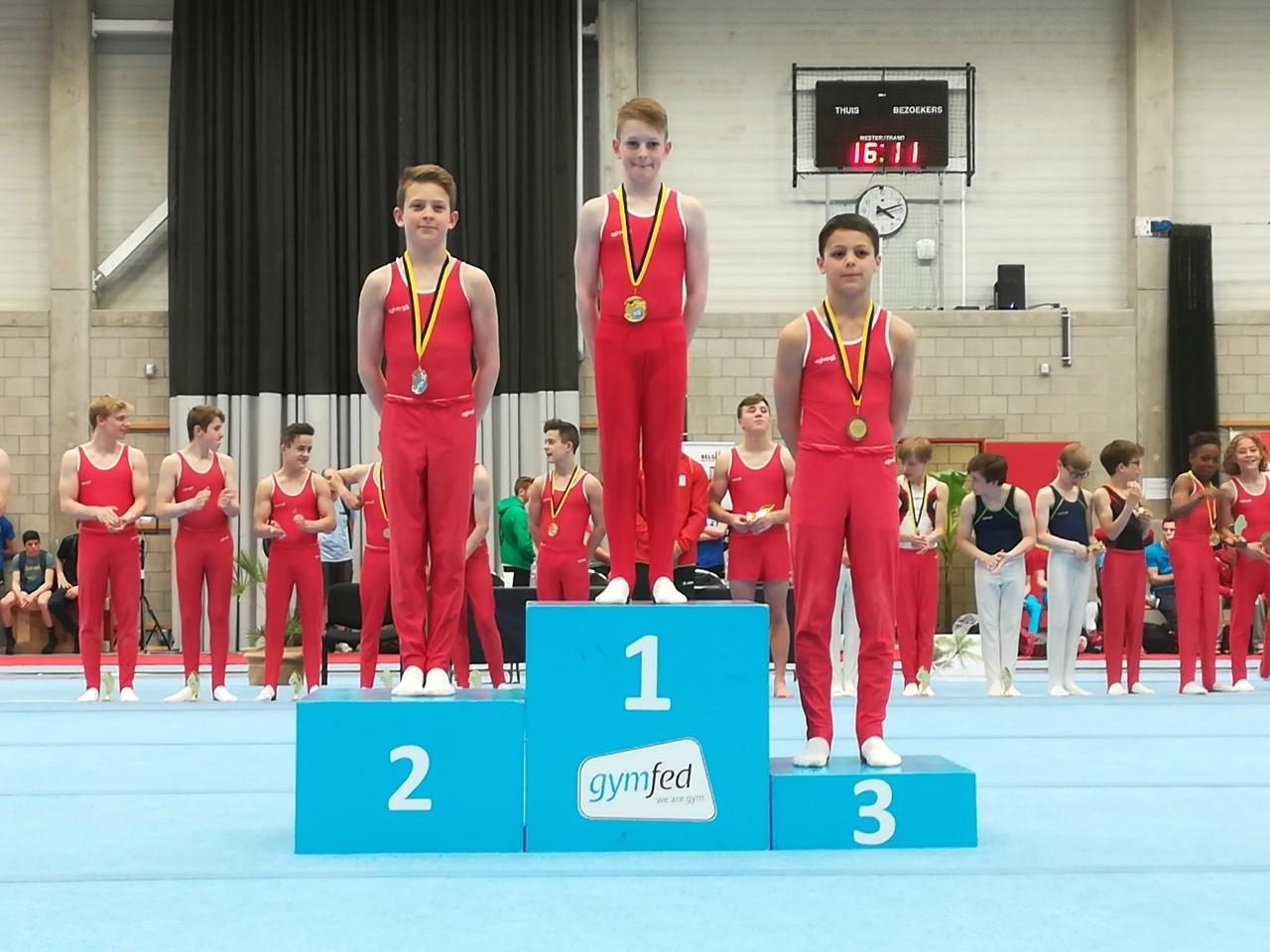 Giel (2e) en Briek (3e) op het podium A 13-15 jaar!