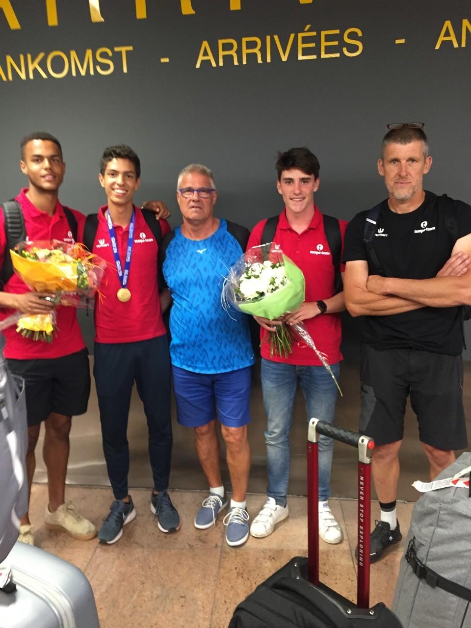 WK U20 OEH ploeg Tampere terugkeer Zaventem