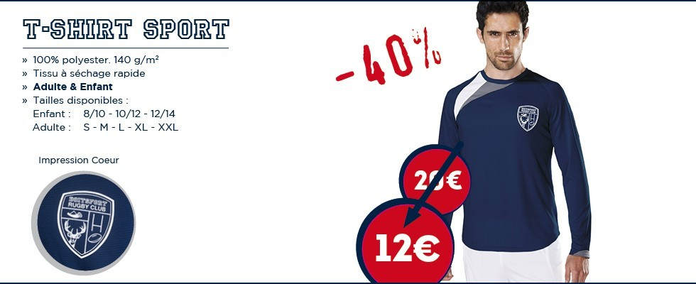 2017 T-Shirt Manches Longues 40%