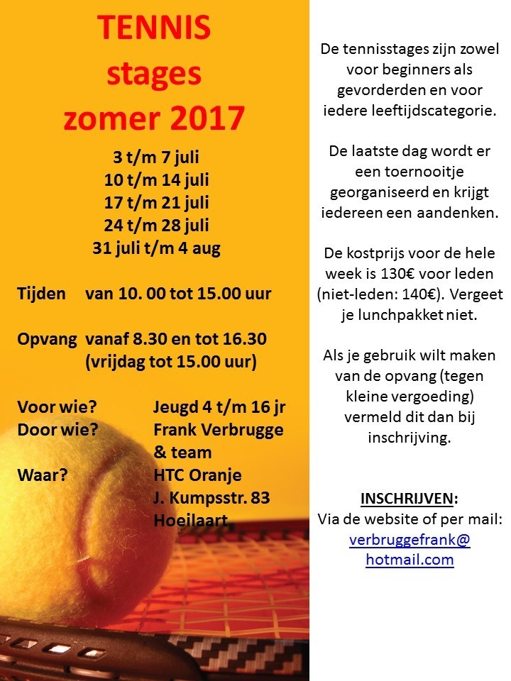 2017-zomer stages tennis