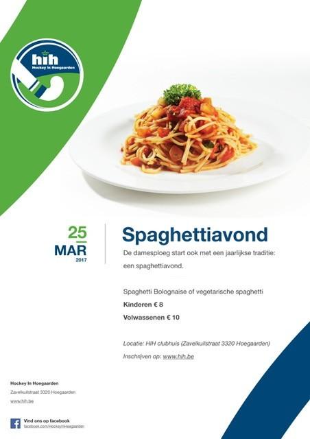 Affiche spaghetti-dag damesploeg