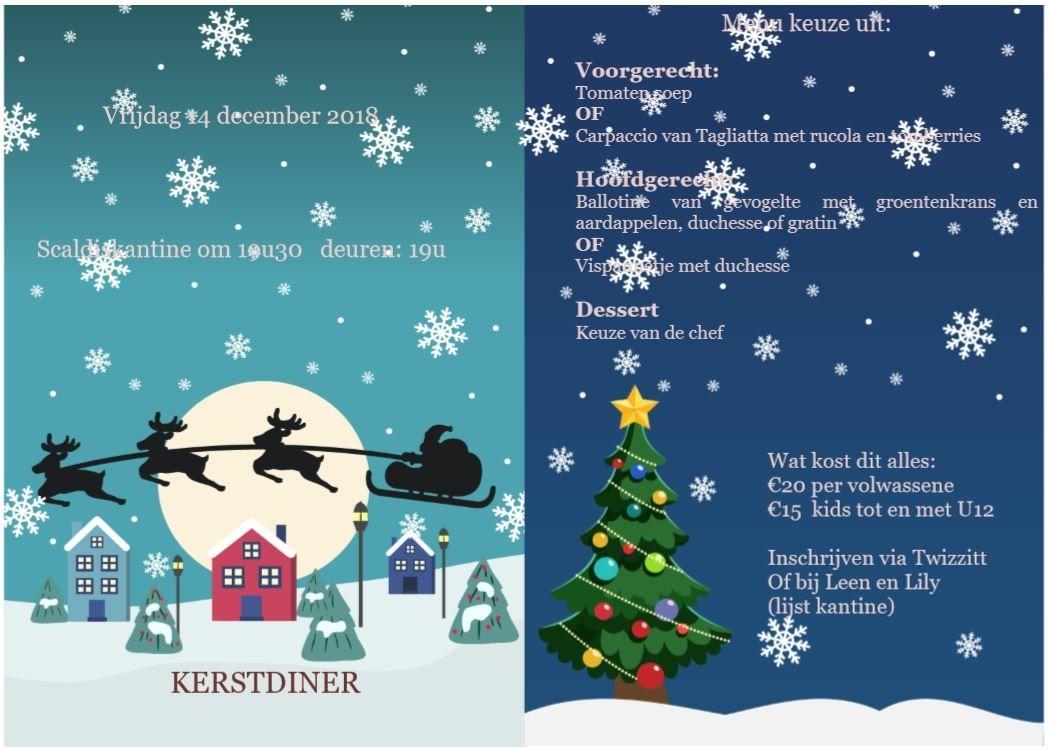 Affiche Kerstdiner