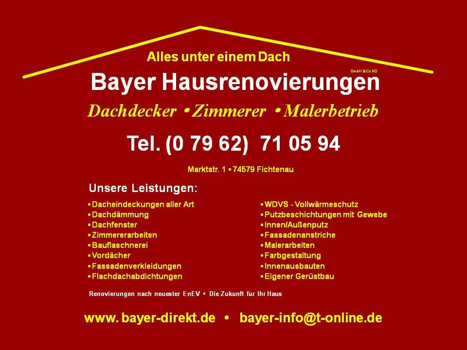 Bild zu Bayer Hausrenovierungen GmbH & Co. KG in Fichtenau