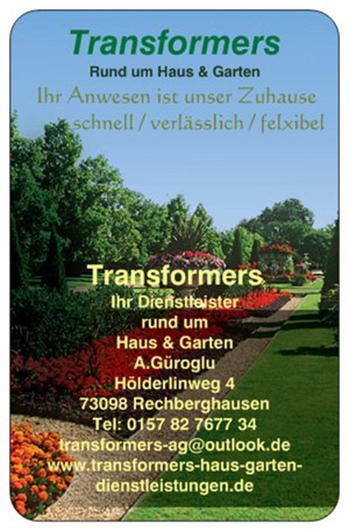 Transformers Haus Garten Dienstleistungen Rechberghausen