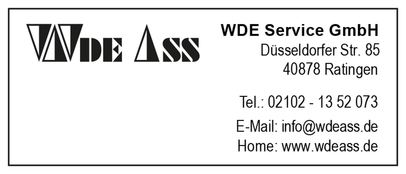 Bild zu WDE Service GmbH in Ratingen