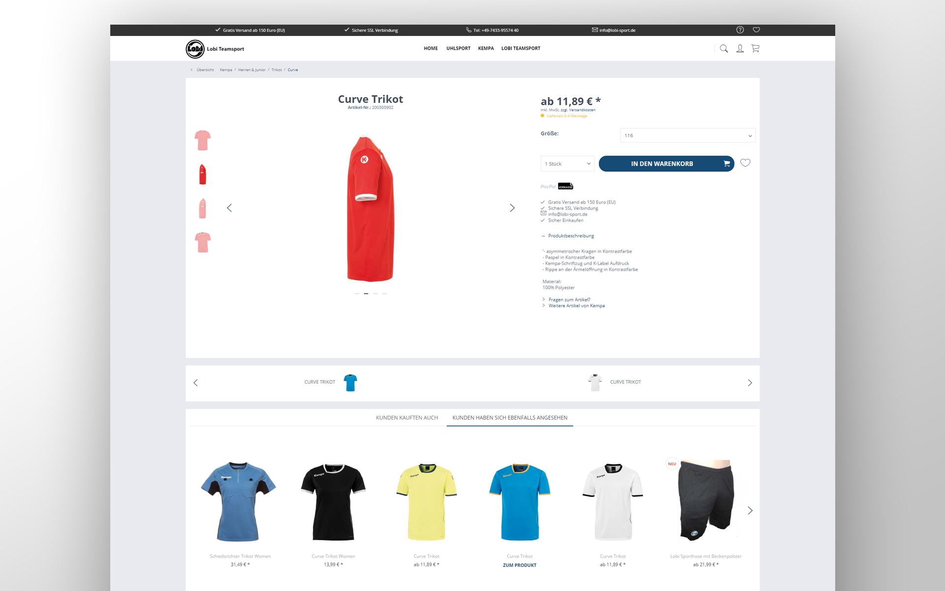 Lobi Sport - Sportbekleidung online einkaufen